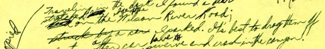 William Stafford Traveling Through Dark draft